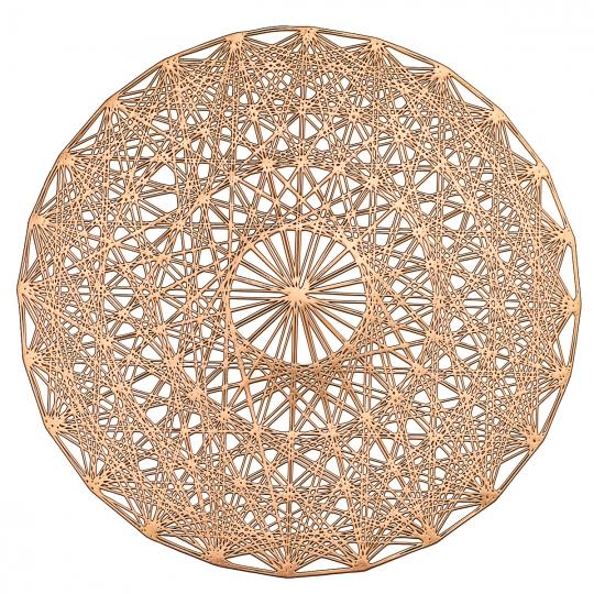 """Сервировочная салфетка """"Сатурн"""" розовое золото (8510-007)"""