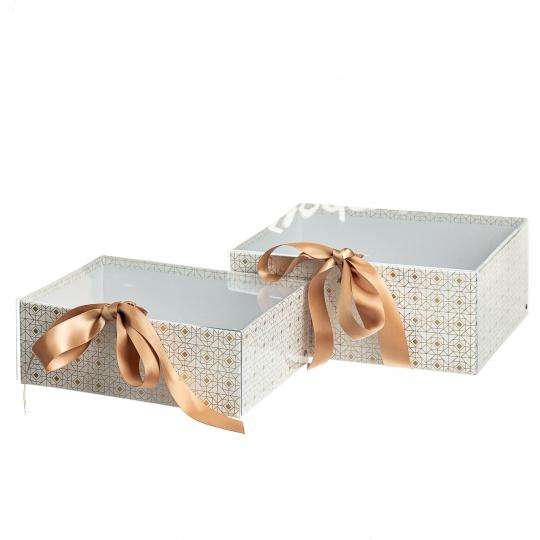 "Набор из 2-х коробок ""Одри"", белый (8517-002)"