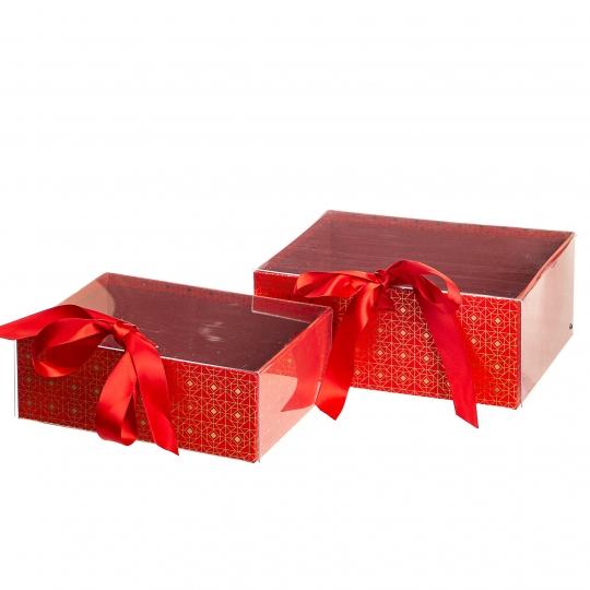 """Набор из 2-х коробок """"Одри"""", красный (8517-004)"""