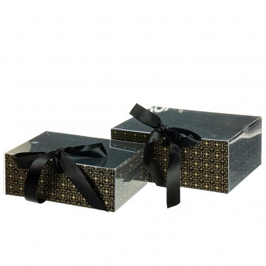 """Набор из 2-х коробок """"Одри"""", черный (8517-005)"""