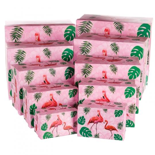 """Набор коробок """"Тропическое настроение"""" (pink), 10 шт (0220JH)"""