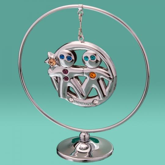 """Кольцо """"Близнецы"""" (0452-105/GA-SL)"""