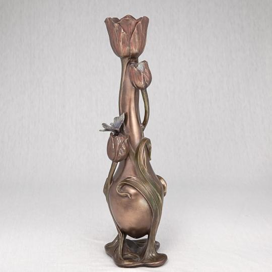 """Ваза """"Маленькая бабочка на тюльпане"""" (33 см) (10026V4)"""