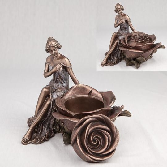 """Шкатулка """"Девушка и роза"""" (15 см) (10197 A4)"""