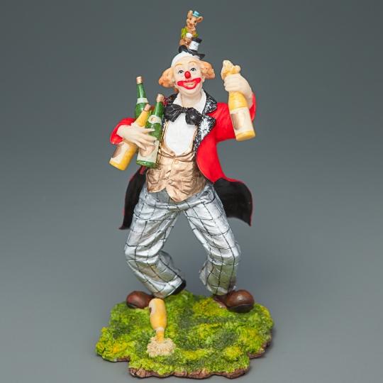 """Статуэтка """"Клоун с шампанским"""" (15 см) (72571 AA)"""