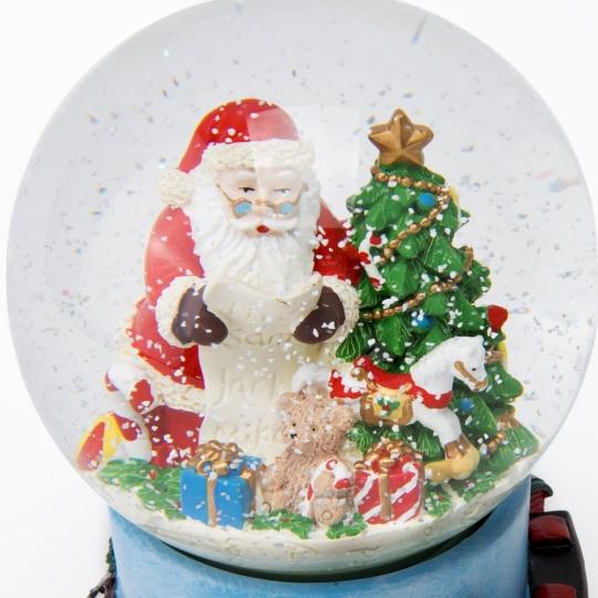 """Музыкальный снежный шар """"Письмо Санте"""", 17 см. (6016-006)"""