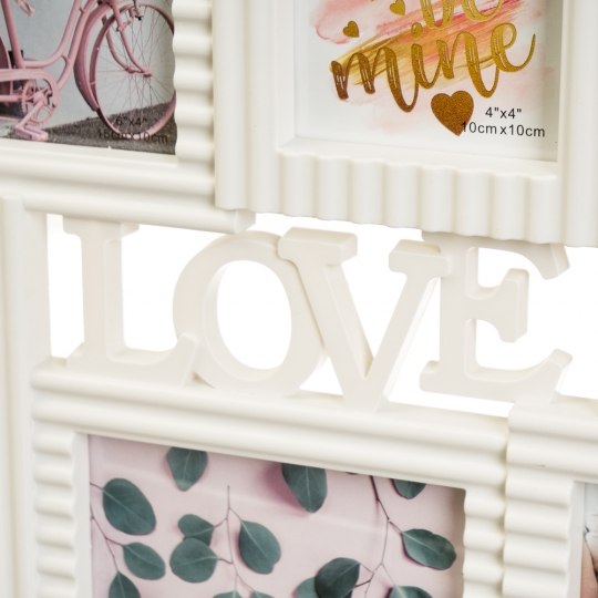 """Фотоколлаж """"LOVE"""" 50x34x2,5см (2004-004)"""