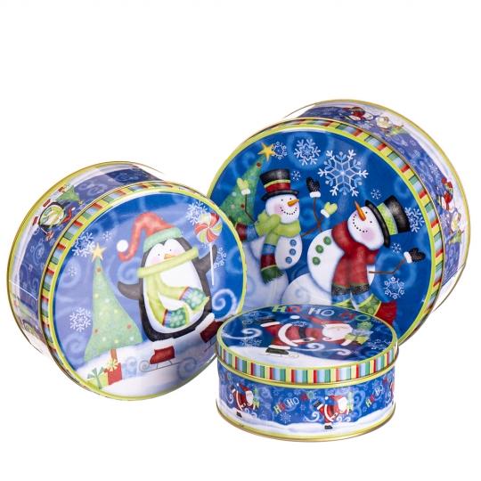 """Набор подарочных коробок """"Зимняя ночь"""" 3 шт. (8005-014)"""