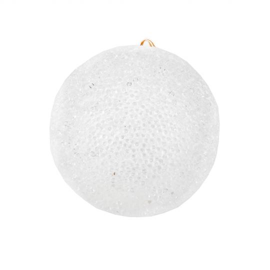 """Новогодняя игрушка """"Заснеженный шар"""", 12 см (6018-048)"""