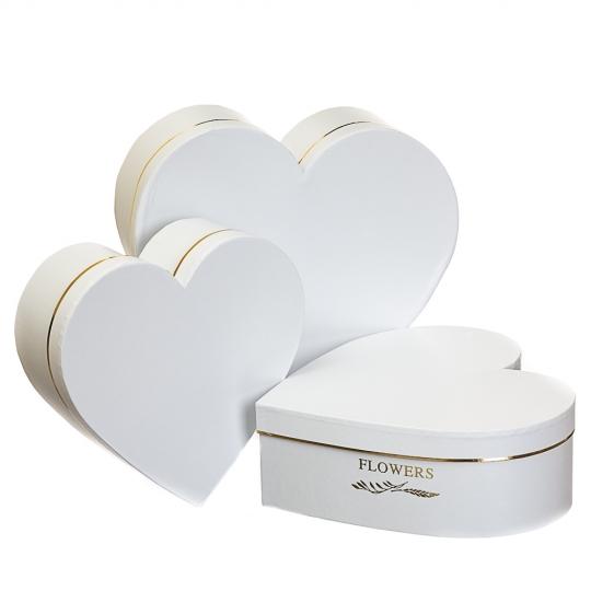 "Набор коробок ""Цветы в сердце"" (white) (8013-027)"