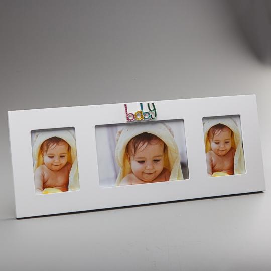 """Фоторамка """"Baby"""" (39*15 см, ф - 10*15 см) (Микротрещины по всей рамке) (00BR-126C)"""