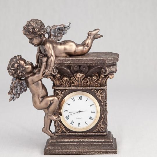 """Часы """"Играющие ангелочки"""" (17 см) (74349A4)"""