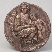 """Медальон """"Мария с Иисусом"""" (22 см)"""
