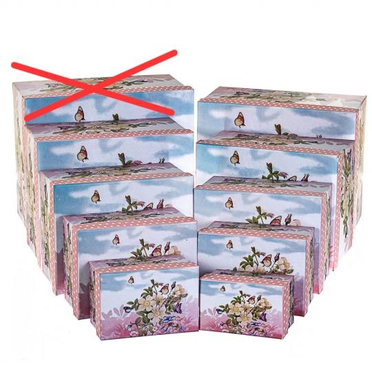 "Набор коробок ""Цветы"" 9 шт (8305-008/9)"