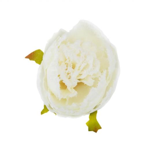 """Набор  декоративных цветов  """"Бутон пиона"""" белый (6018-035)"""