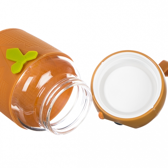 """Бутылка стеклянная """"Совенок"""" (коричневый) 330 мл (0015J/C)"""