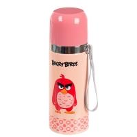 """Термос металлический """"Angry Birds"""" (розовый) 350 мл"""