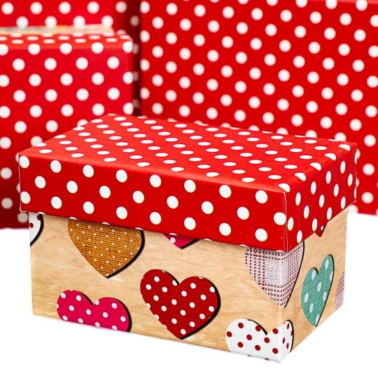 "Набор коробок ""Горошки"" (10шт) (8020-010)"
