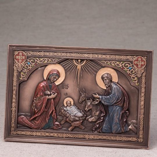 """Картина """"Рождение Иисуса"""" (23*15 см) (76554A4)"""