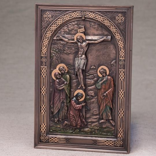 """Картина """"Распятие Иисуса"""" (15*23 см) (76555A4)"""