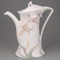 """Чайник""""Бабочка в цветке"""" (21 см)"""