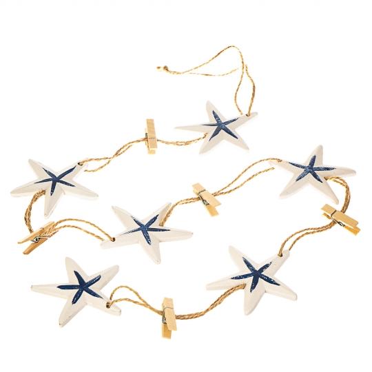 Гирлянда морская, 4 вида:  якорь, ракушка, звезда, спасательный круг (105JH)
