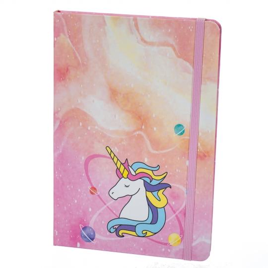 """Блокнот """"Happy Unicorn"""" 4 вида (клетка) (8129-003)"""