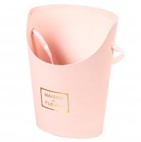 """Коробка для цветов """"Цветочный дом"""" (розовый цвет), (10*15*19см)"""
