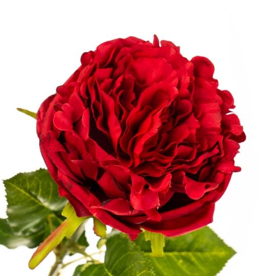 """Цветок искусственный """"Роза бархатная ярко-красная"""" (2000-036RD)"""