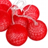 """Гирлянда """"Красные шарики-фонарики"""" 10 шт. (001NL-10R)"""