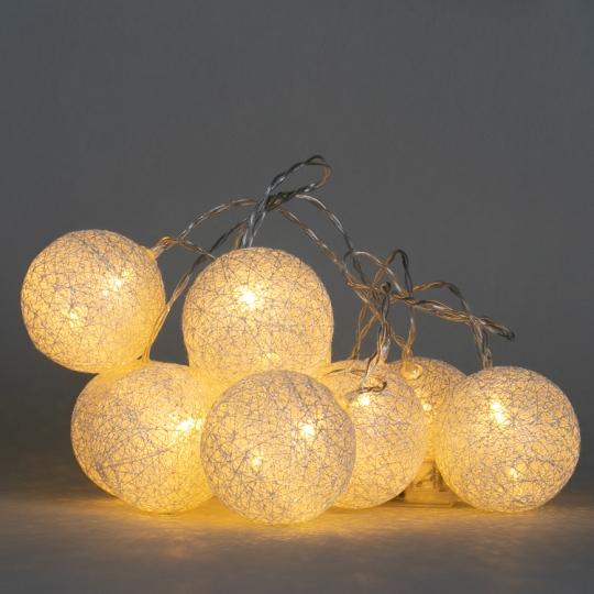 "Гирлянда ""Серебряные шарики-фонарики"" 10 шт. (001NL-10S)"