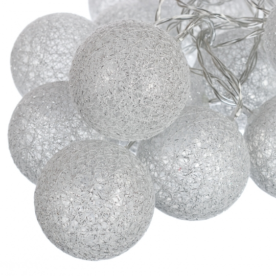 "Гирлянда ""Серебряные шарики-фонарики"" 20шт. (001NL-20S)"