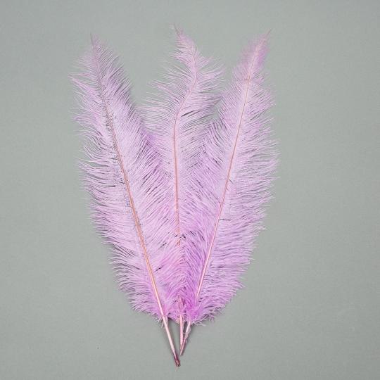 Страусиное перо 55 см светло-фиолетовый (8501-001/light-purple)