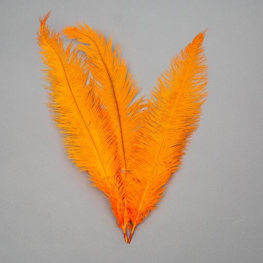 Страусиное перо 55 см Оранжевый (8501-001/orange)