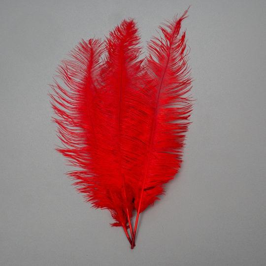Страусиное перо 55 см красный (8501-001/red)