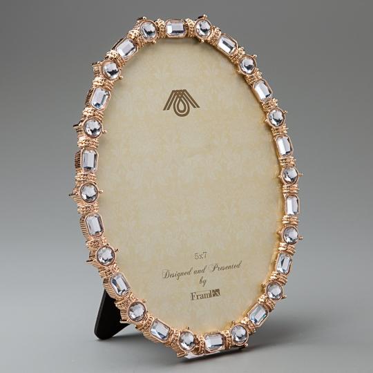 """Фоторамка """"Кристаллы в золоте"""" (15*19 см, ф - 12*17 см) (001V)"""