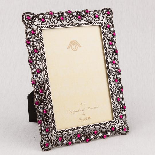 """Фоторамка """"Рубины и алмазы"""" (15*20 см, ф - 10*15 см)"""