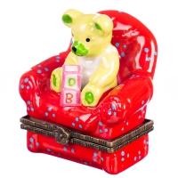 """Шкатулочка """"Мишка в кресле"""""""