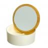 Шкатулка- зеркало с бамбуковой крышкой  12,2 см (0500-012)