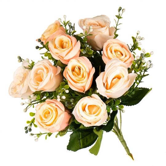 """Искусственные цветы """"Розы классика"""" микс (0643j)"""
