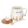 Чашка Кролик с морковками *рандомный выбор дизайна (0517JH)
