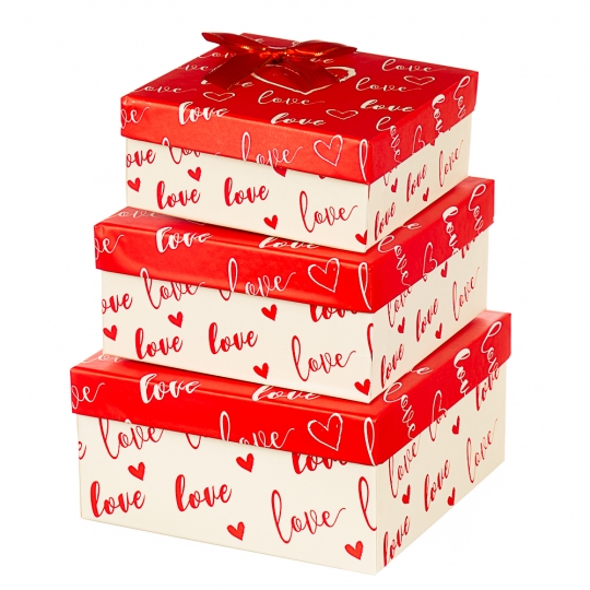 "Набор коробок ""Влюбленность"" (3шт) (261JH)"