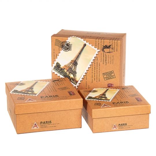 "Набор коробок ""Презент"" (3шт) (262JH)"