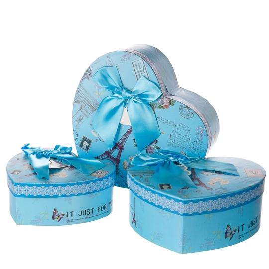 "Коробка для подарков ""Влюбленное сердце"" (0644J /blue)"