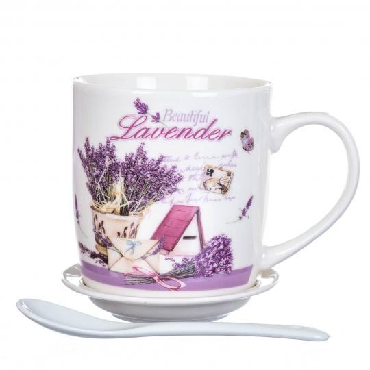 """Чашка  """"Лавандовая"""" 300 мл. *рандомный выбор дизайна (8201-027)"""