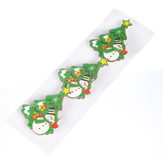 """Комплект елочных игрушек """"Снеговик у елки"""""""