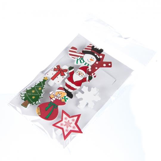"""Комплект елочных игрушек """"Новогодняя компания"""", 7 шт (009NY)"""