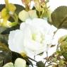 Искусственный цветок (30 см) (003FT-whitegreen4)