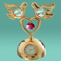 "0232-119 Часы ""Голуби на  сердце"""