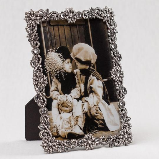 """Фоторамка """"Алмазные цветы"""" (13*18 см) (009MA)"""